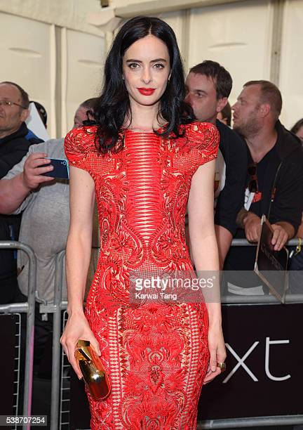 Krysten Ritter arrives for the Glamour Women Of The Year Awards in Berkeley Square Gardens on June 7 2016 in London United Kingdom