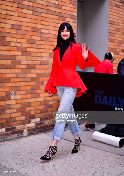 Krysten Ritter arrives to the 'The Daily Show With Trevor Noah' on March 14 2018 in New York City