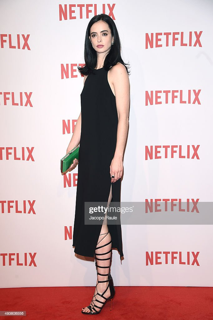 Krysten Ritter attends a red carpet for the Netflix launch at Palazzo Del Ghiaccio on October 22, 2015 in Milan, Italy.
