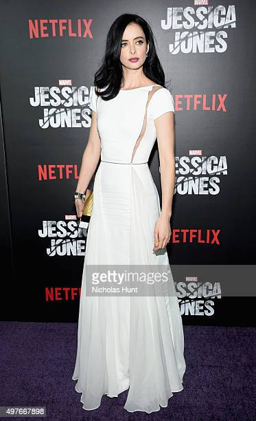 Krysten Ritter attends the Jessica Jones Series Premiere at Regal EWalk on November 17 2015 in New York City