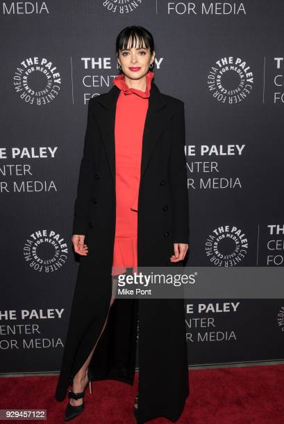 Krysten Ritter attends The Paley Center for Media presents An Evening with Marvel's 'Jessica Jones' at The Paley Center for Media on March 8 2018 in...