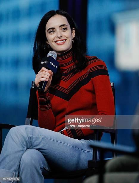 Krysten Ritter discusses 'Jessica Jones' during AOL BUILD speaker series at AOL Studios In New York on November 16 2015 in New York City
