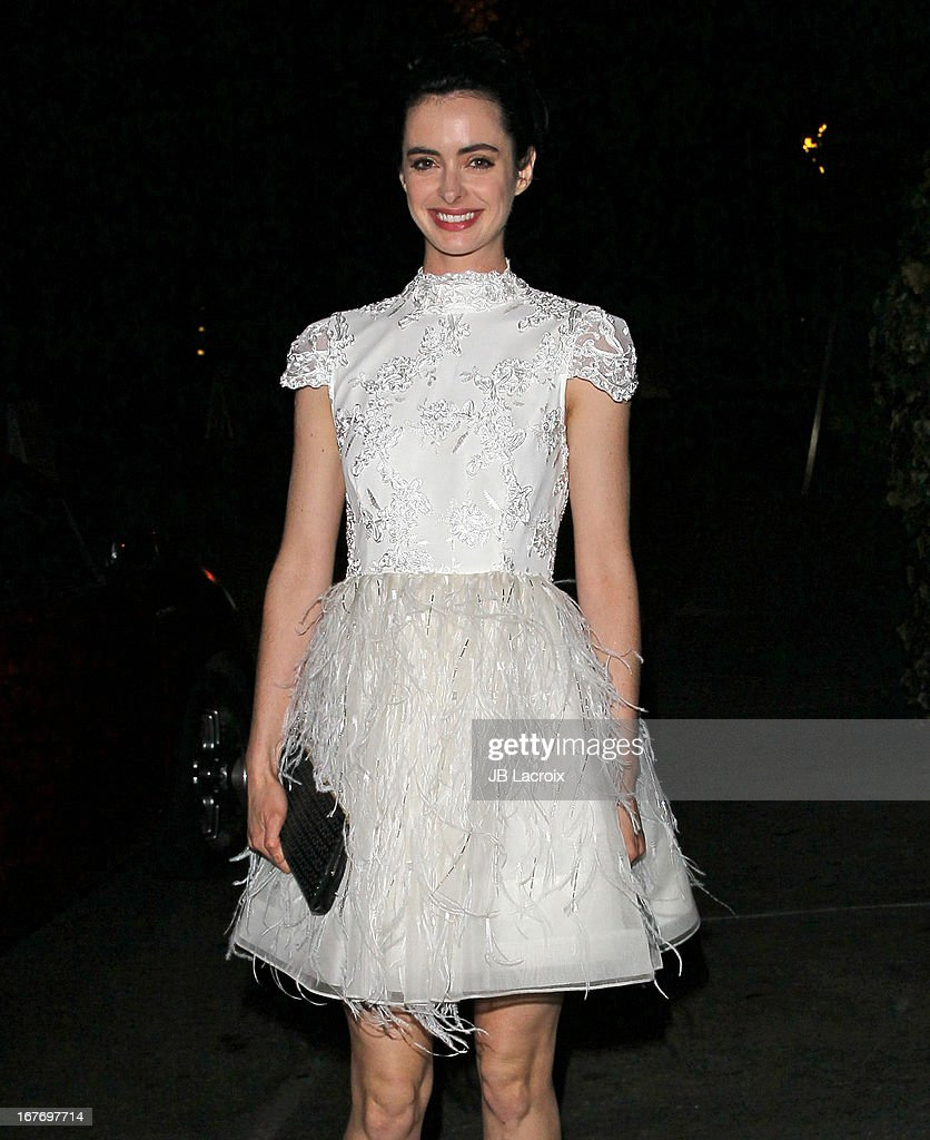 Krysten Ritter is seen at Chateau Marmont on April 27, 2013 in Los Angeles, California.