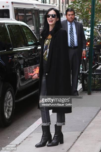 Krysten Ritter is seen on November 08 2017 in New York City