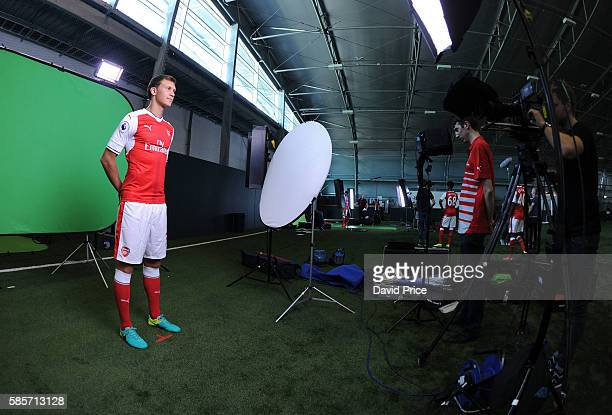 Krystian Bielik of Arsenal during the Arsenal 1st team photocall at London Colney on August 3 2016 in St Albans England