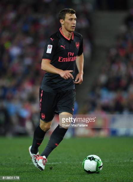 Krystian Bielik of Arsenal during the preseason friendly match between Sydney FC and Arsenal at ANZ Stadium on July 13 2017 in Sydney New South Wales