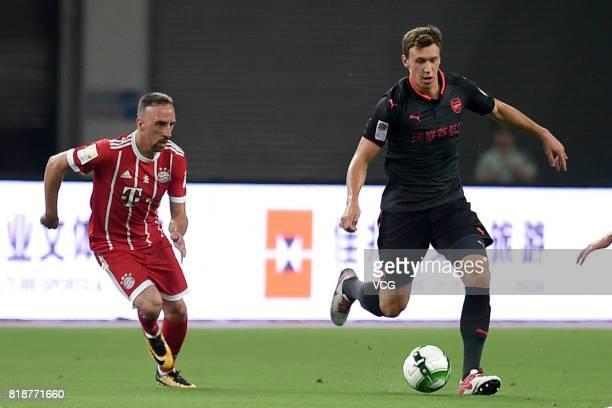 Krystian Bielik of Arsenal FC controls the ball during 2017 International Champions Cup China football match between FC Bayern Munich and Arsenal FC...