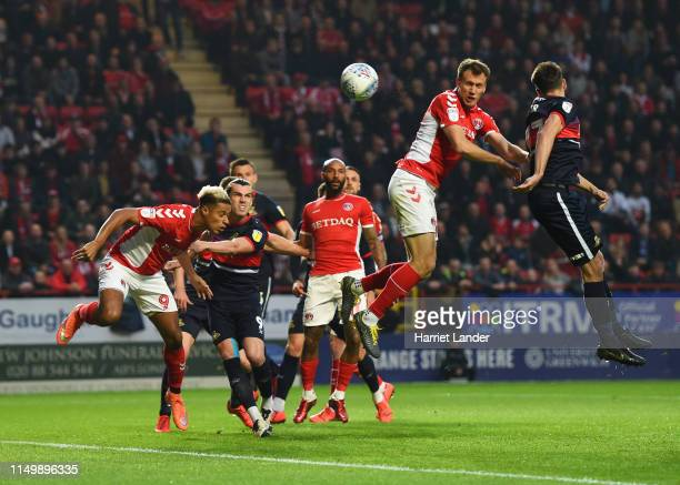 Krystian Bielik of Charlton Athletic scores his team's first goal during the Sky Bet League One PlayOff Second Leg match between Charlton Athletic...