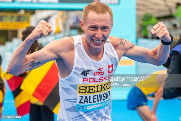 Krystian Zalewski of Poland after the race of 2020 IAAF World Half Marathon Championships in Gdynia