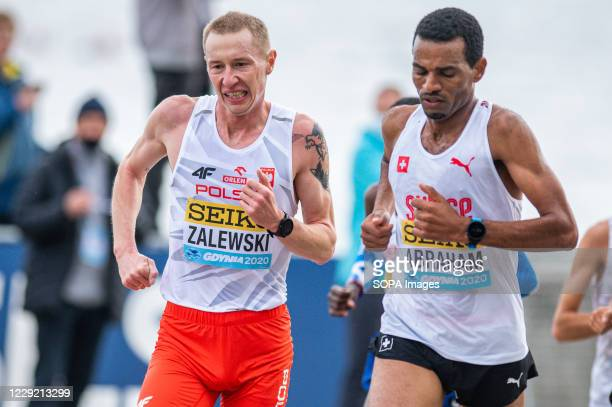 Krystian Zalewski of Poland in action during 2020 IAAF World Half Marathon Championships in Gdynia