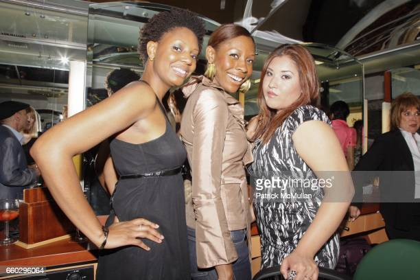 Krystin Dennis, Jessyka Dennis and Elsa Gomec attend RODOLFO VALENTIN'S Salon & Spa Preview Party at 694 Madison Avenue on June 15, 2009 in New York...