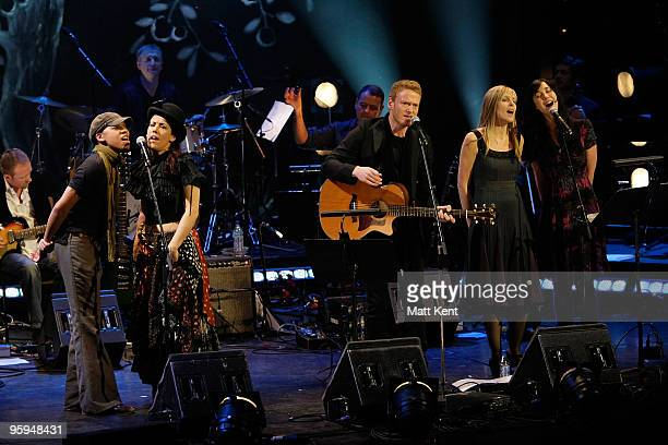 Krystle Warren Kirsty Almeida Teddy Thompson Kate St John and Lisa Hannigan perform on stage at Barbican Centre on January 22 2010 in London England