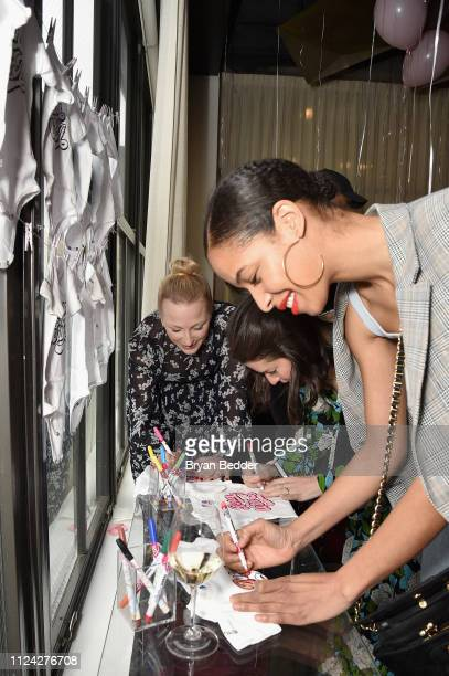 Krystle Wilson attends Maybelline New York hosts a baby shower for Carly Cushnie during New York Fashion Week The Shows at Spring Studios on February...