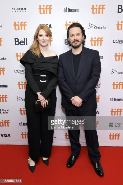 """Krysty Wilson-Cairns and Edgar Wright attend the """"Last Night In Soho"""" Premiere during the 2021 Toronto International Film Festival at Roy Thomson..."""