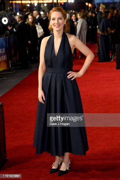 "Krysty Wilson-Cairns attends the ""1917"" World Premiere and Royal Performance at Odeon Luxe Leicester Square on December 04, 2019 in London, England."