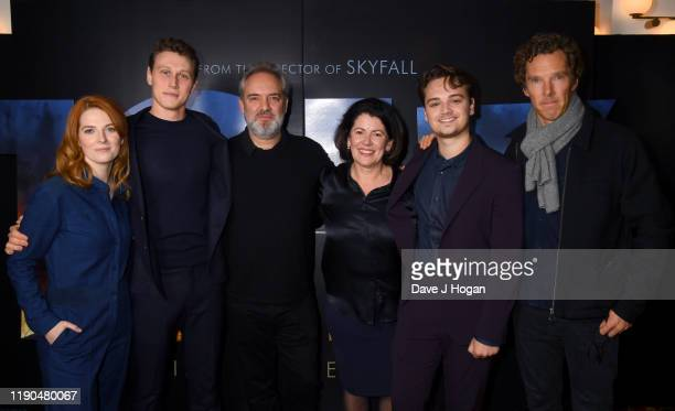 Krysty WilsonCairns Sam Mendes George MacKay Benedict Cumberbatch and DeanCharles Chapman during the BAFTA Screening Of 1917 film QA With Cast at...