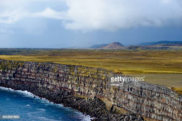 krysuvikurberg cliffs, iceland - basalt stock pictures, royalty-free photos & images