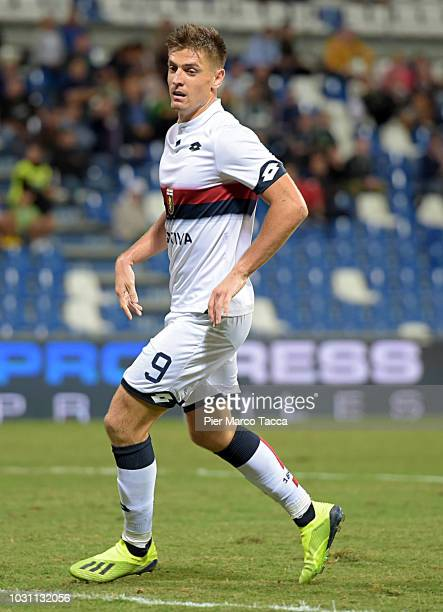 Krysztof Piatek of Genoa CFC looks on during the serie A match between US Sassuolo and Genoa CFC at Mapei Stadium Citta' del Tricolore on September 2...