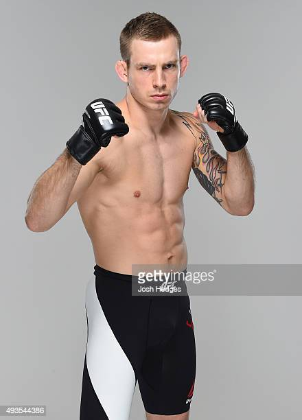Krzysztof Jotko poses for a portrait during a UFC photo session at The Gibson Hotel on October 21 2015 in Dublin Ireland