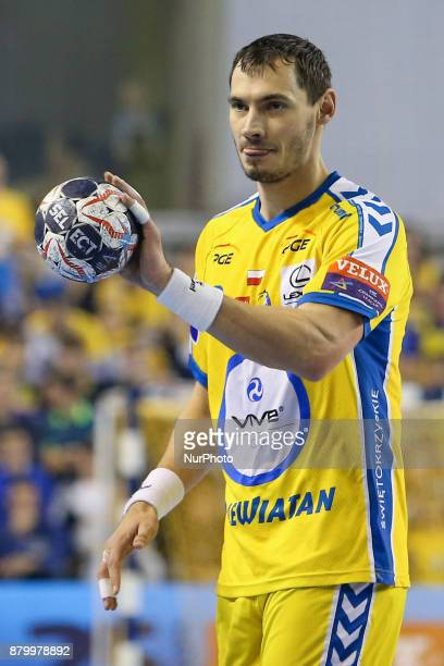 Krzysztof Lijewski during EHF Handball Champions League Group B match between KS Vive Tauron Kielce and Paris SaintGermain Handball at Kielce Poland...