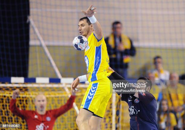 Krzysztof Lijewski Nikola Karabatic during the EHF Men's Champions League Game between PGE Vive Kielce and PSG Handball on November 26 2017 in Kielce...
