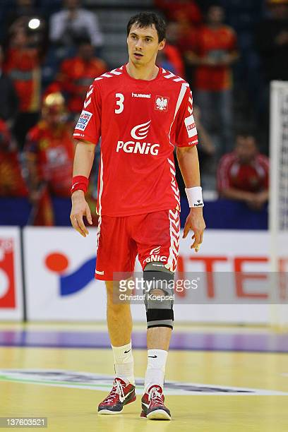 Krzysztof Lijewski of Poland looks dejected after losing 2527 the Men's European Handball Championship second round group one match between Poland...