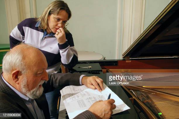 Krzysztof Penderecki participates in International Cello Festival dedicated to Mstislav Rostropovich in Moscow pictured Krzysztof Penderecki during...