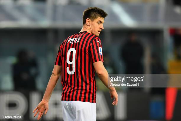 Krzysztof Piatek of AC Milan looks on during the Serie A match between Parma Calcio and AC Milan at Stadio Ennio Tardini on December 1 2019 in Parma...