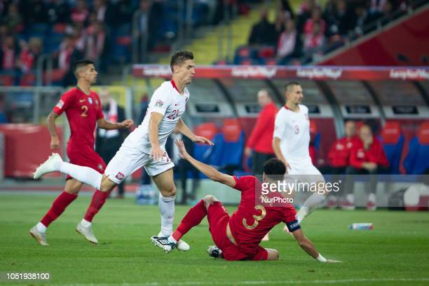 Krzysztof Piatek Pepe during the UEFA Nations League A soccer match between Poland and Portugal at Silesian Stadium in Chorzow Poland on 11 October...