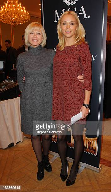 Ksenia Gorbachev and her mother Irina Virganskaya Gorbachev attend the Mikhail Gorbachev Award 2012 Press Conference at Hotel Adlon on November 21,...