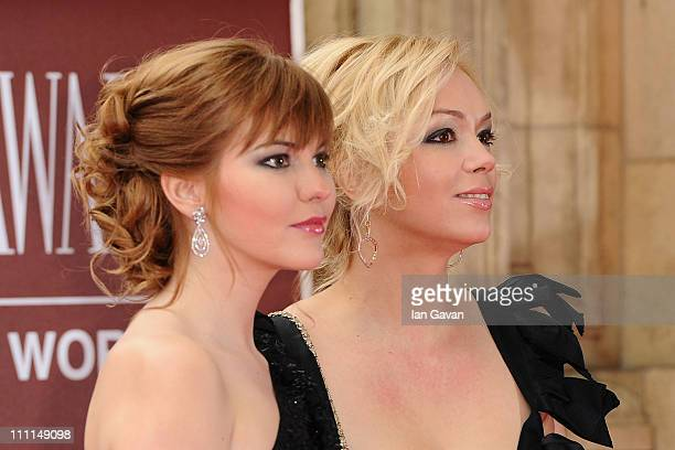 Ksenia Gorbacheva and Anastasia Virganskaya attend the Gorby 80 Gala at the Royal Albert Hall on March 30 2011 in London England The concert is to...