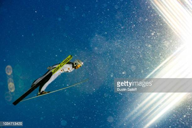 Ksenia Kablukova of Russia competes in the Women's Ski Jumping HS100 during the FIS Nordic World Ski Championships on February 24 2017 in Lahti...