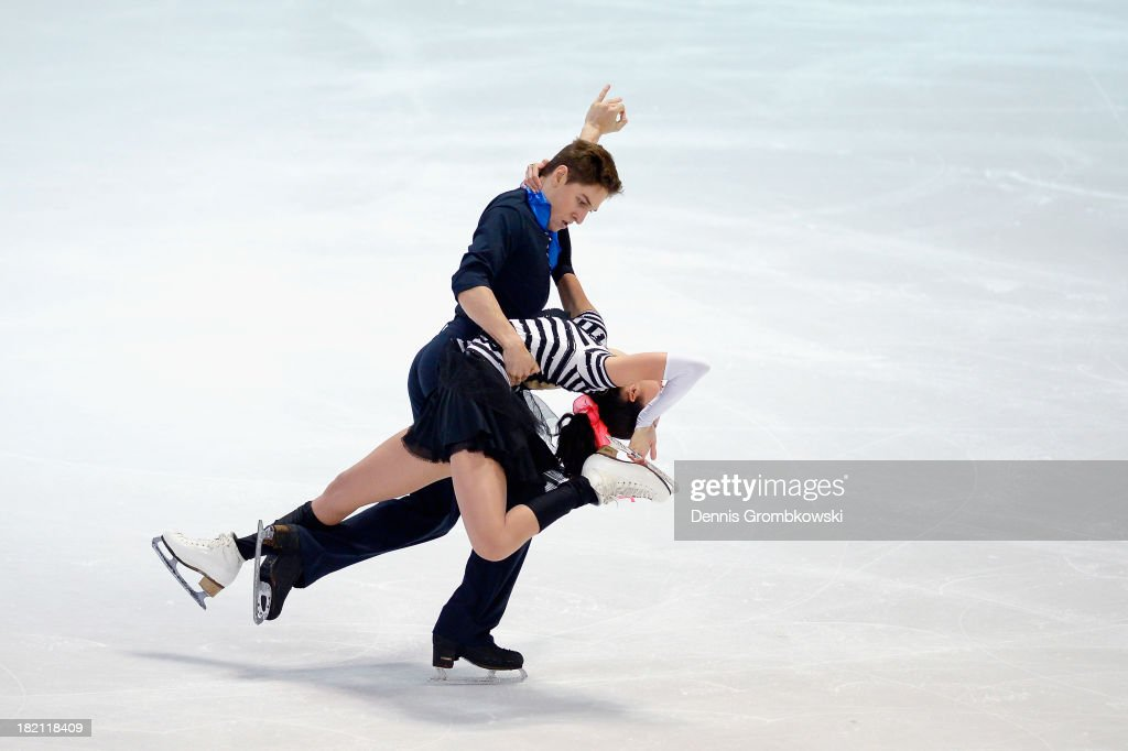 Ksenia Monko and Kirill Khaliavin of Russia compete in the Ice Dance Free Dance competition during day three of the ISU Nebelhorn Trophy at Eissportzentrum Oberstdorf on September 28, 2013 in Oberstdorf, Germany.