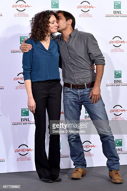 Ksenia Rappoport and Adriano Giannini attend the 'La Foresta Di Ghiaccio' Photocall during the 9th Rome Film Festival on October 23 2014 in Rome Italy