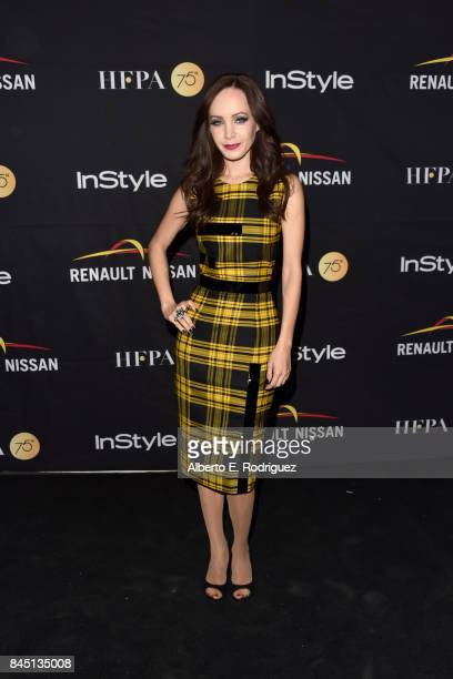 Ksenia Solo attends the HFPA InStyle annual celebration of 2017 Toronto International Film Festival at Windsor Arms Hotel on September 9 2017 in...