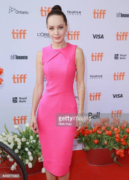 Ksenia Solo attends the Tulipani Love Honour and a Bicycle premiere during the 2017 Toronto International Film Festival at Ryerson Theatre on...