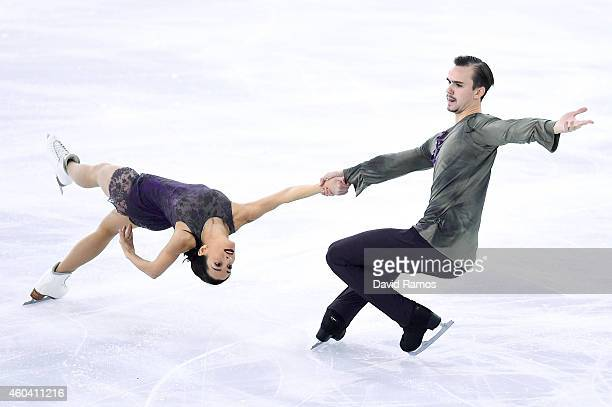 Ksenia Stolbova and Fedor Klimov of Russia compete in Free Skating Pairs Final during day three of the ISU Grand Prix of Figure Skating Final...