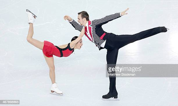 Ksenia Stolbova and Fedor Klimov of Russia compete in the Figure Skating Team Pairs Free Skating during day one of the Sochi 2014 Winter Olympics at...
