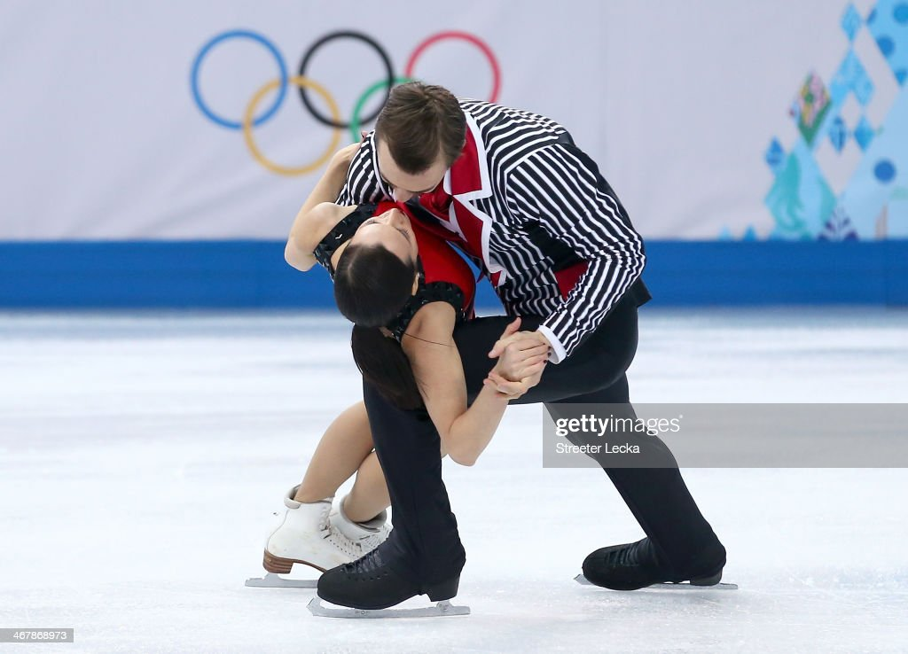 Ksenia Stolbova and Fedor Klimov of Russia compete in the Figure Skating Team Pairs Free Skating during day one of the Sochi 2014 Winter Olympics at Iceberg Skating Palace on February 8, 2014 in Sochi, Russia.