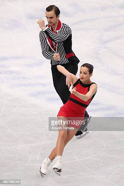 Ksenia Stolbova and Fedor Klimov of Russia compete in the Pairs Free Program during ISU World Figure Skating Championships at Saitama Super Arena on...