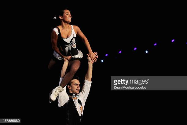 Ksenia Stolbova and Fedor Klimov of Russia in action during the Exhibition Galla during the ISU European Figure Skating Championships at Motorpoint...