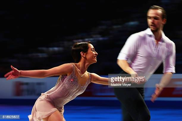 Ksenia Stolbova and Fedor Klimov of Russia perform during the Exhibition of Champions on Day 7 of the ISU World Figure Skating Championships 2016 at...