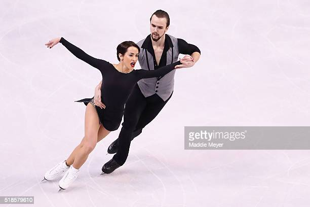 Ksenia Stolbova and Fedor Klimov of Russia skate in the Pairs Short Program during Day 5 of the ISU World Figure Skating Championships 2016 at TD...