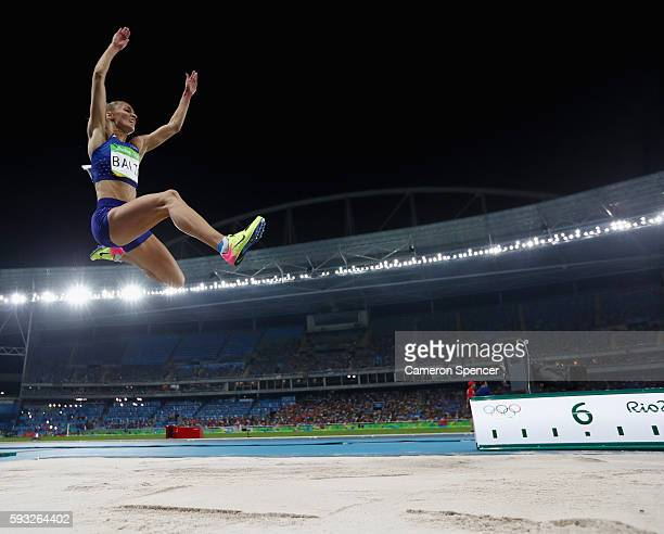 Ksenija Balta of Estonia competes in the Women's Long Jump final on Day 12 of the Rio 2016 Olympic Games at the Olympic Stadium on August 17, 2016 in...