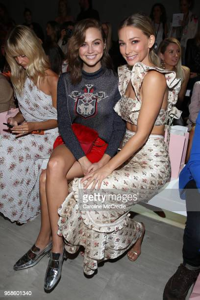 Ksenija Lukich and Anna Heinrich attend the We Are Kindred show at MercedesBenz Fashion Week Resort 19 Collections at Carriageworks on May 15 2018 in...