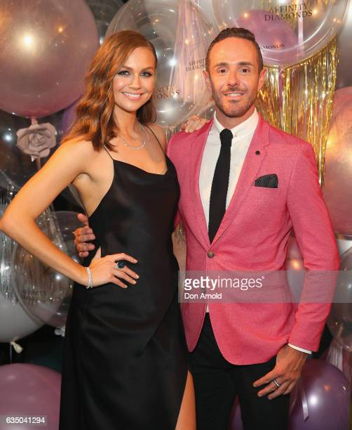 Ksenija Lukich and Donny Galella arrive ahead of the Affinity Diamonds Launch Event on February 13 2017 in Sydney Australia