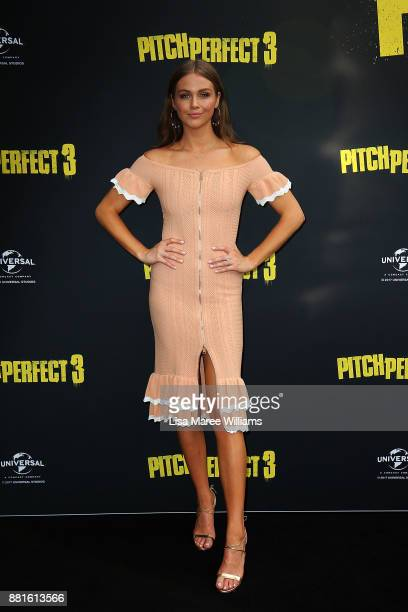 Ksenija Lukich arrives ahead of the Australian Premiere of Pitch Perfect 3 on November 29 2017 in Sydney Australia