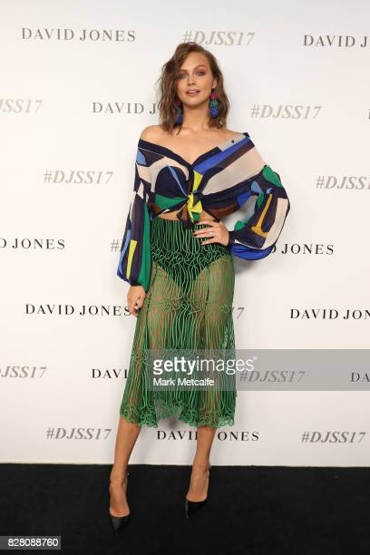 Ksenija Lukich arrives ahead of the David Jones Spring Summer 2017 Collections Launch at David Jones Elizabeth Street Store on August 9 2017 in...