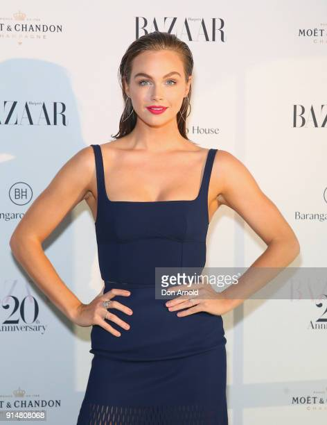 Ksenija Lukich arrives ahead of the Harper's Bazaar Australia 20th Anniversary celebration on February 6 2018 in Sydney Australia