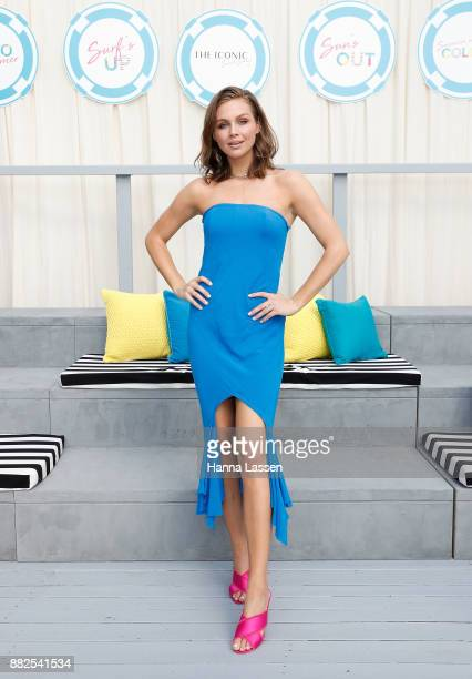 Ksenija Lukich arrives ahead of THE ICONIC Swim Show 2017 on November 30 2017 in Sydney Australia